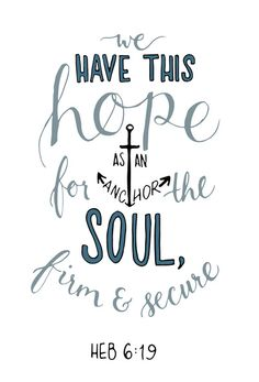 Hebrews 6:19 Stretched Canvas