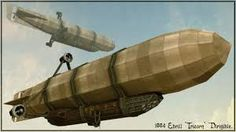 Image result for dieselpunk airship