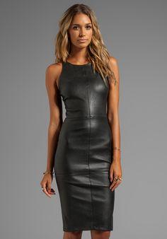 ELIZABETH AND JAMES  ~ little black leather dress~