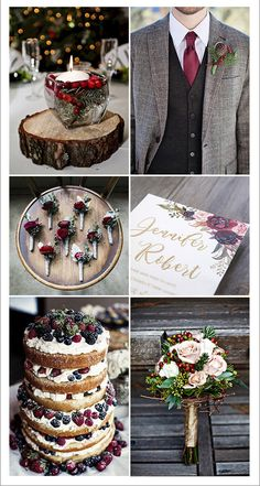 rustic berry red and shades of brown winter wedding ideas with christmas spirits wedding winter Top 13 Winter Wedding Color Ideas for 2020 Christmas Wedding Themes, Winter Wedding Decorations, Christmas Colors, Grey Winter Wedding, Burgundy Wedding, Fall Wedding, Dream Wedding, Lodge Wedding, Rustic Wedding
