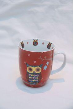 Beautiful Colourful OWL Bone China Mug by Allen Designs