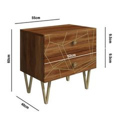 Buy Halo 2 Drawer Bedside Table with Brass Inlay in Natural Honey from - the UK's leading online furniture and bed store Halo 2, Natural Honey, Online Furniture, Dressing Room, Bedside, Drawers, New Homes, Brass, Storage