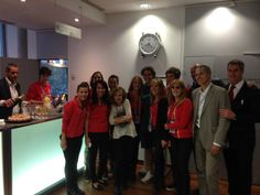 Rafa With a part of the Roland Garros's team.