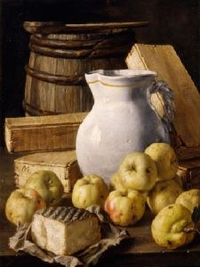 Luis Egidio Meléndez - the greatest Spanish still-life painter of the elevated simple, rustic objects into palace decorations for royals Still Life With Apples, Still Life Fruit, Still Life Artists, Still Life Images, Spanish Painters, Apple Pear, Fruit Art, Still Life Photography, Food Photo