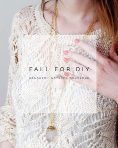 DIY Decadent Crystal Necklaces Tutorial from Fall For DIY