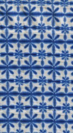 shibori, sekka pattern / from coqui de Vicente Tie Dye Patterns, Fabric Patterns, Print Patterns, Blue Patterns, Fabric Dyeing Techniques, Textile Dyeing, Indigo Prints, Shibori Tie Dye, How To Tie Dye
