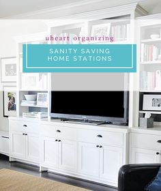 UHeart Organizing: Sanity Saving Home Stations (IHeart Organizing) Organisation Hacks, Storage Organization, Organizing Your Home, Organising Tips, Space Crafts, Kid Spaces, Simple House, Minimalist Home, Getting Organized