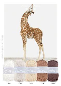 Kleurencombinatie giraf. Mooi kleurenpalet van BYCLAIRE1