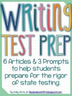 Writing Test Prep and ELA Paired Passages for Upper Elementary 6th Grade Writing, Writing Test, Writing Curriculum, Reading Test, Teaching Writing, Writing Prompts, Teaching Grammar, Writing Paper, Writing Ideas