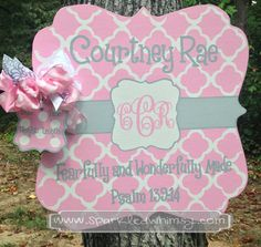 Personalized Baby Announcement Sign For Hospital by SparkledWhimsy