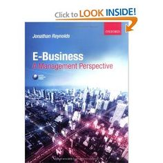 Price: $52.11 - E-Business: A Management Perspective - TO ORDER, CLICK THE PHOTO