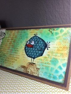 Student Work by Manuela in Inventive Ink – Colorful Mixed Media Effects class.  Register here: craftsy.me/1ONw8iG