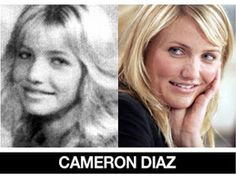 Beautiful World : Celebrities Then and Now Celebrity Faces, Celebrity Look, Celebrity Pictures, Celebrities Then And Now, Famous Celebrities, Celebs, Young Old, Yearbook Photos, Cameron Diaz