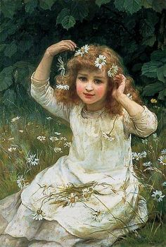 Frederick Morgan (British painter) 1847 - 1927 Marguerites