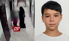 Moment 'man disguised in a burka lures schoolboy to death'