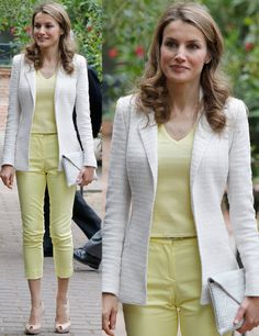 Yellow - Princess Letizia of Spain - summer looks
