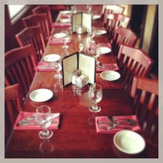 Your table is ready. Perfect for birthday celebrations!