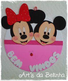 Olá... Mais uma decoração de sala de aula entregue, cartazes com o tema Minie e Mickey. E quem encomendou essas fofurices foi a professora ...