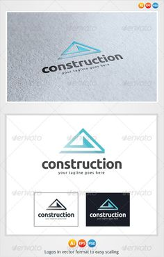 Construction  Logo Design Template Vector #logotype Download it here:  http://graphicriver.net/item/construction-logo/3277896?s_rank=108?ref=nesto
