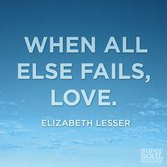 """When all else fails, #love."""