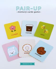 FREE Printable Pair-up Memory Cards Game