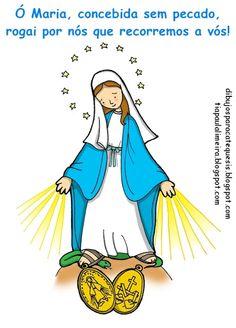 Tia Paula: Nossa Senhora das Graças para colorir