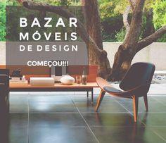Começou o Bazar Móveis de Design da Essência. Peças com até 56% de desconto 💙