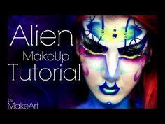 Artistic Alien - Makeup Tutorial