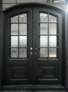 This door, and any other door design is available in any size, or as single or double doors, or doors with sidelights or transoms. Exceptional Doors - Hand Crafted in 12 Gauge Wrought Iron by Monarch Custom Doors Wood Doors, Entry Doors, Entryway, French Doors Inside, Interior Design Courses Online, Wrought Iron Doors, House Front Door, Door Design, Door Handles