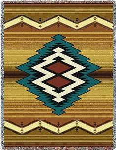 70x53 MAIMANA Southwest Native Tapestry Afghan Throw Blanket