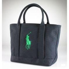 Ralph Lauren Big Polo Handbag Ink Black