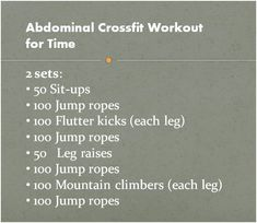 Cross Fit - ABS
