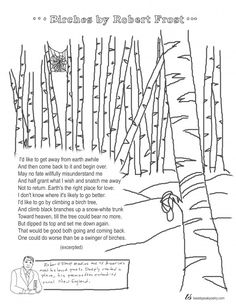 Coloring Page Poems: The Snow Man by Wallace Stevens