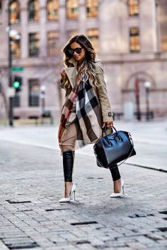 The Best Spring Investment Pieces - Burberry Trench // Burberry Scarf (in 'Camel Check' color) // Similar Leather Pants // Similar White Tee // Saint Laurent Sunglasses // Givenchy 'Antigona' Bag // Christian Louboutin 'So Kate' Heels March 7th, 2017 by maria