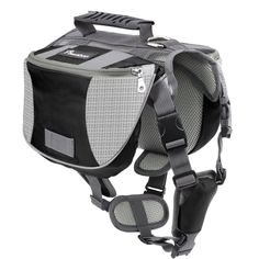 Pawaboo Dog Backpack, Pet Adjustable Saddle Bag Harness Carrier, for Traveling Hiking Camping, Suitable for 39 lb - 60 lb Pet, Black & Gray: Amazon.ca: Pet Supplies