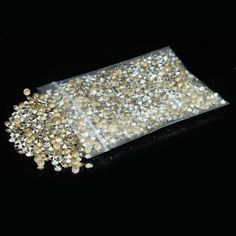 2000pcs/lot Silver&Champagne Acrylic Crystal Diamond Confetti Wedding Table Decoration - Wedding Look