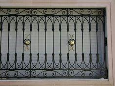 Balcony Railing Design, Front Porch Design, Fence Design, Window Grill Design Modern, Window Design, Door Design, Iron Window Grill, Iron Windows, Interior Staircase