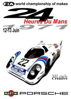Retro Le Mans 1971 poster by MLewis Creative.