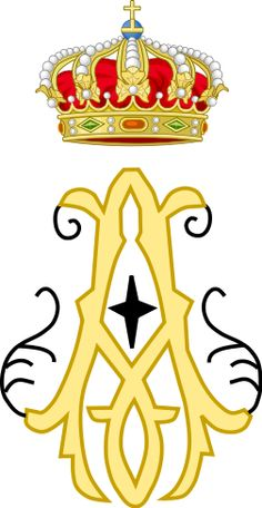 Royal Monogram of Prince Alfred as Duke of Saxe-Coburg and Gotha