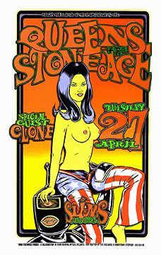 Alan Forbes and Firehouse Queens Of The Stone Age 1999 Poster
