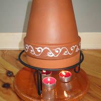 DIY:: Flower Pot Heater ~ Gives a lot of heat, costs about nothing, easy to make and it looks pretty nice, too! Clay/Terracotta pots absorb the thermal energy of the candles and convert it into radiant space heat. Reaches temperatures of to Hea Emergency Preparation, Survival Prepping, Emergency Preparedness, Survival Kits, Clay Pot Crafts, In Case Of Emergency, Terracotta Pots, Clay Pots, Artisanal