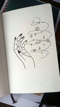 Magic universe leticia board в 2019 г. art drawings, art sketches и pencil Space Drawings, Cool Art Drawings, Pencil Art Drawings, Art Drawings Sketches, Doodle Drawings, Sketch Art, Easy Drawings, Cute Drawings Tumblr, Tumblr Sketches