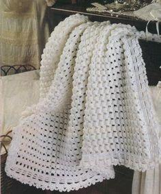 Patrones para bebes Mantitas para bebe tejidas a crochet,hola amigas de…