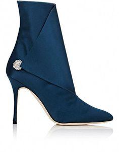6e0575df3fb3 MANOLO BLAHNIK Diazhigri Satin Ankle Boots.  manoloblahnik  shoes   Minolo  Blahnik Shoes