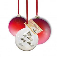 #design3000 Christbaumkugel mit Weihnachtsausstecher.
