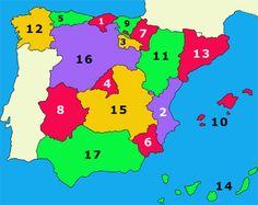 LAS COMUNIDADES AUTÓNOMAS Spanish Class, Teaching Spanish, School Days, Science, Culture, Classroom, Technology, Maps, Interactive Map