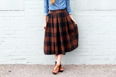 pleated skirt pattern and tutorial