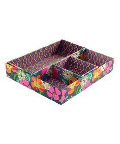 Look at this #zulilyfind! Jazzy Blooms Drawer Organizer #zulilyfinds