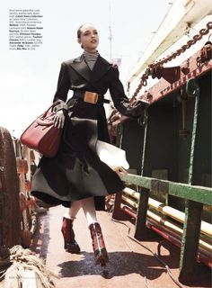 visual optimism; fashion editorials, shows, campaigns & more!: hot under the collar: clarice silva vitkauskas by mariano vivanco for us elle august 2013