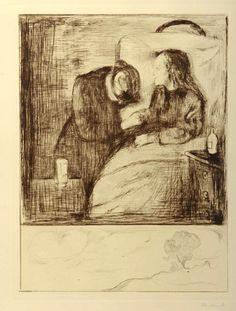 Das Kranke Madchen. The Sick Girl. Das Kranke Kind. The Sick Child. Edvard Munch - William Weston Gallery